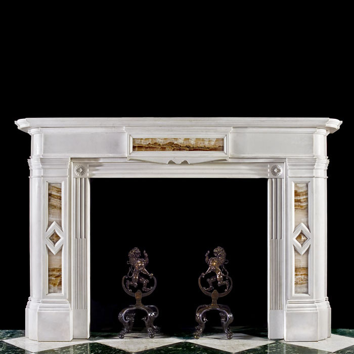 A Scottish Regency Inlaid Fireplace Mantel