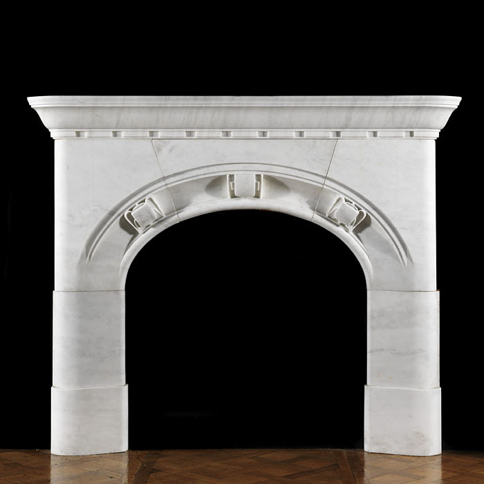 An Arts And Crafts Marble Fire Surround