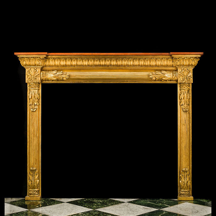 A Regency Pine & Giltwood Fire Surround