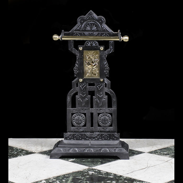 A Brass & Cast Iron Victorian Stick Stand