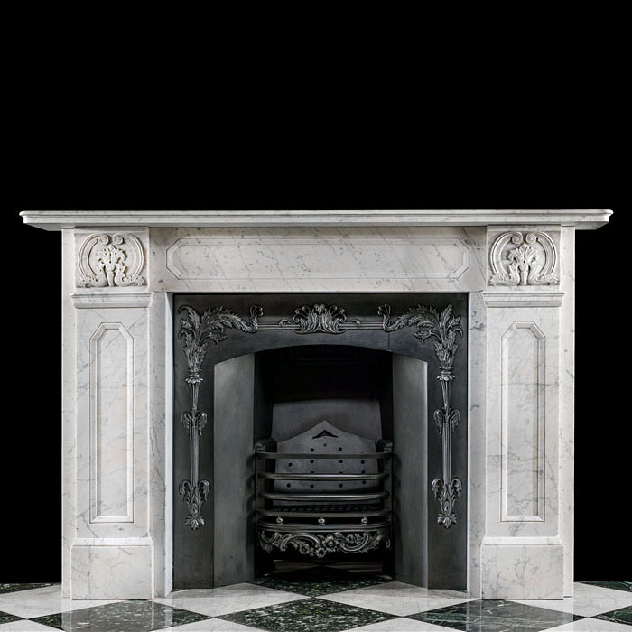 A Regency Fireplace in Veined Carrara Marble