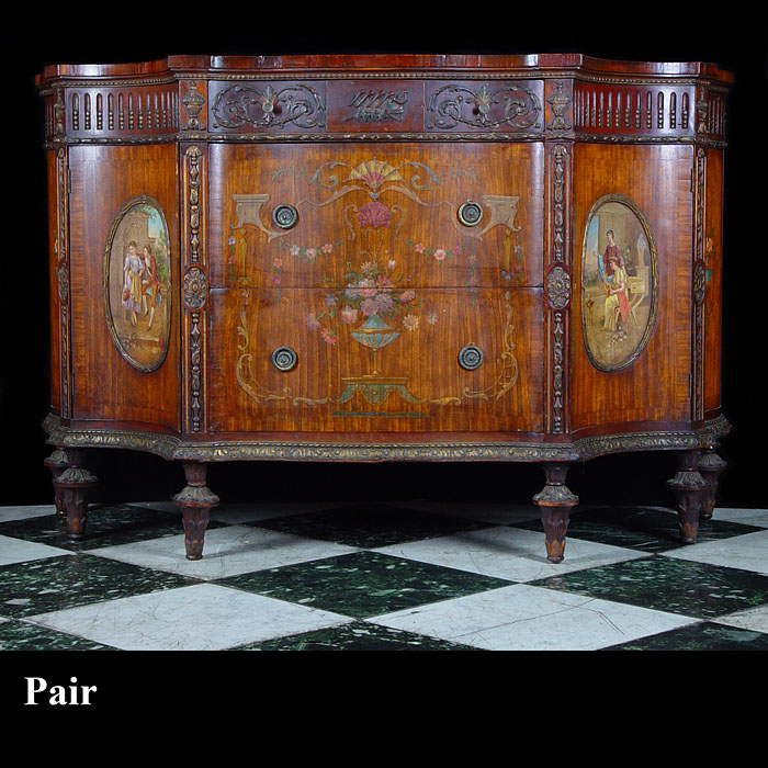 A Pair of Chippendale Style Commodes