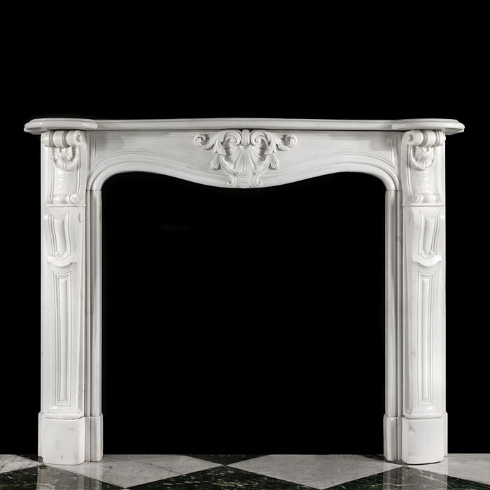 A French Rococo Statuary Fireplace Mantel