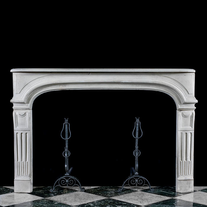 A Baroque Revival Stone Fireplace Surround