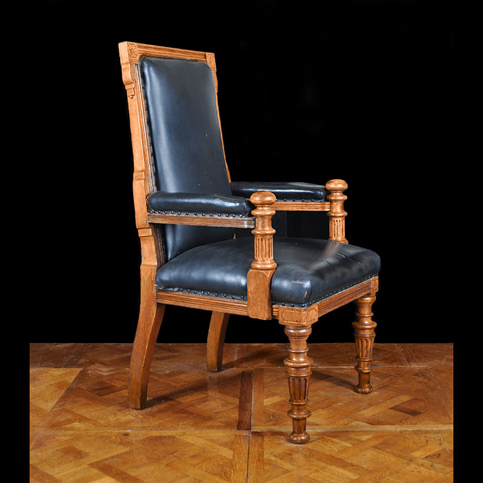 A Large Oak Victorian Magistrates Chair