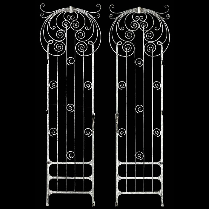 A pair of antique Art Nouveau wrought iron gates