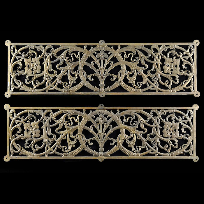 A pair of MacFarlane Founndry balcony panels