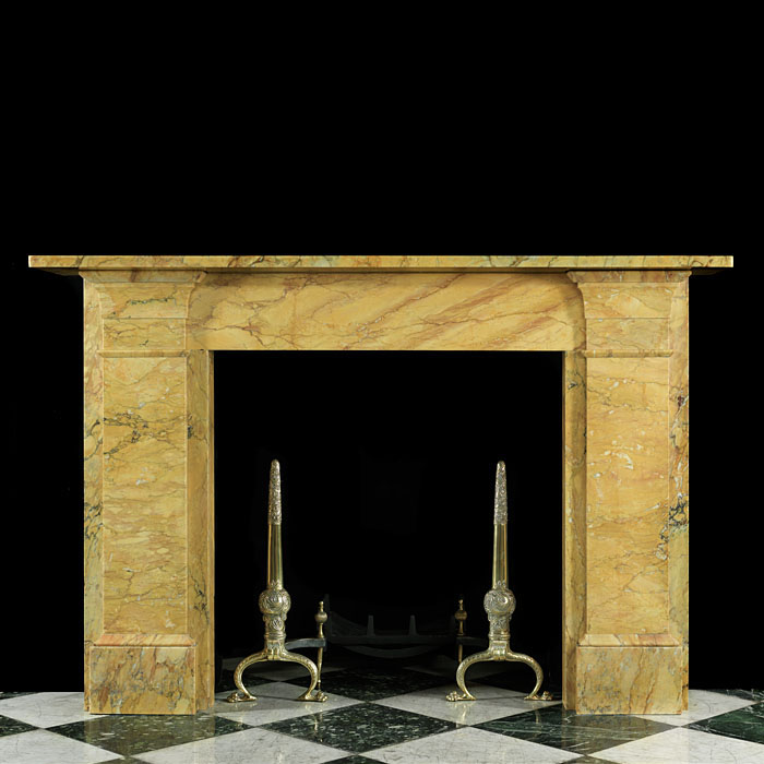 English Sienna Marble Regency Chimneypiece