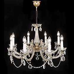 A 20th Century Moulded Glass Chandelier.