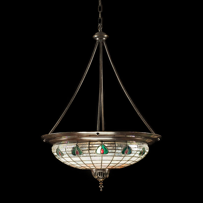 An Art Nouveau Tiffany Style Ceiling Light