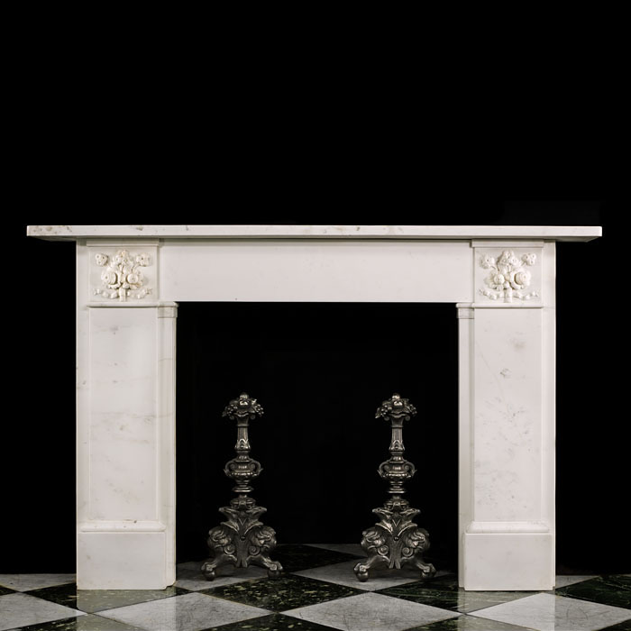 A Statuary Marble Victorian Fire Surround