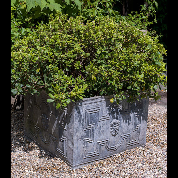 A Late Victorian Large Lead Garden Planter