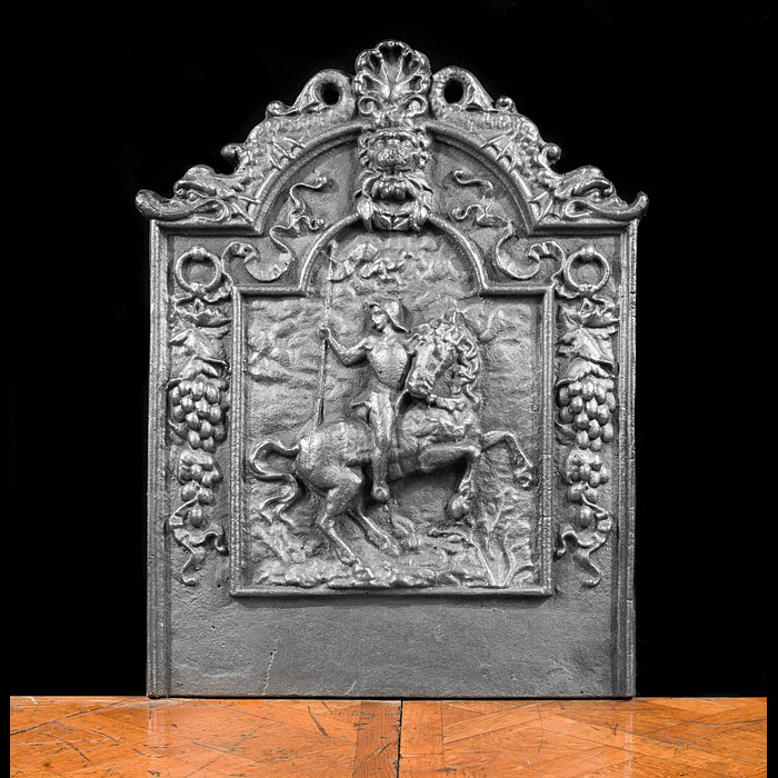 An Antique Cast Iron French Fireback.