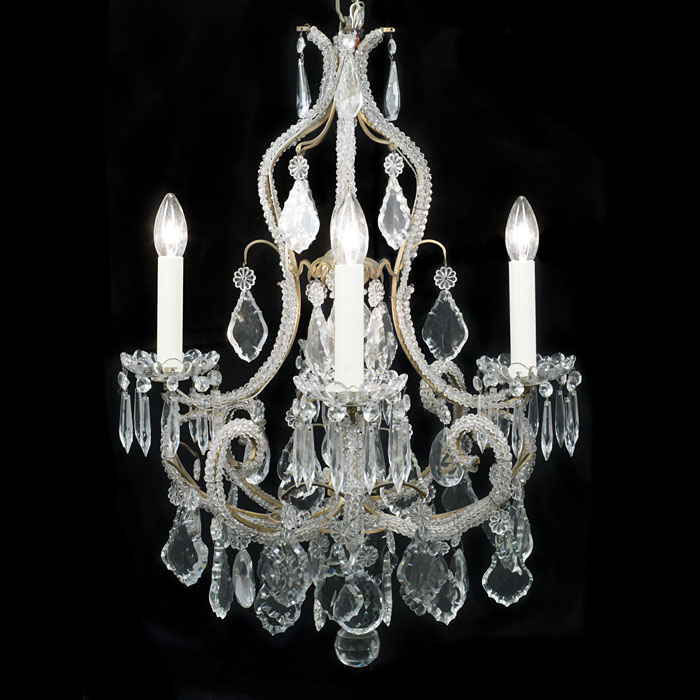 A Small 20th Central Crystal Chandelier