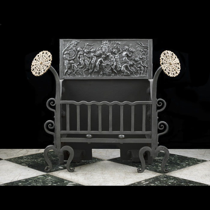 A Cast Iron Arts And Crafts Fire Grate