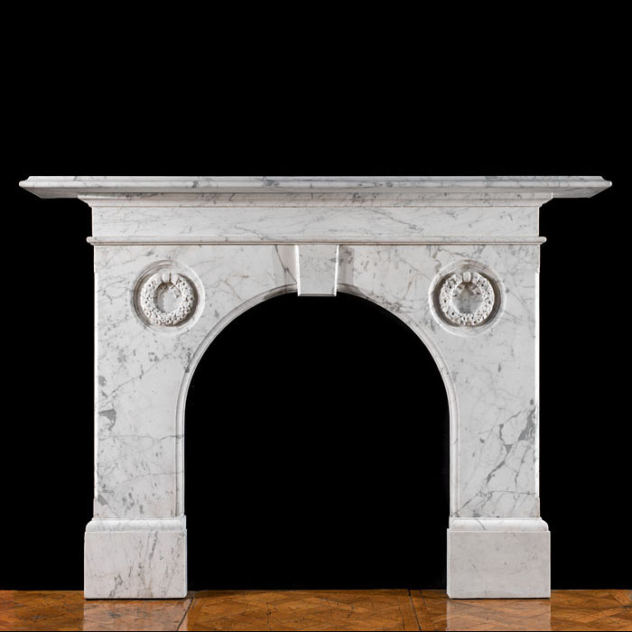 A Victorian English Marble Chimneypiece