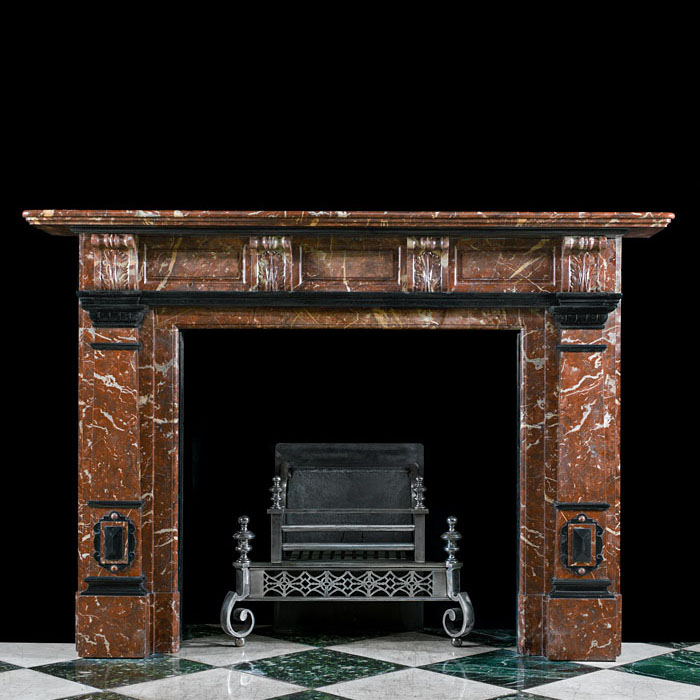 A Rouge Royal Marble Antique Fire Surround
