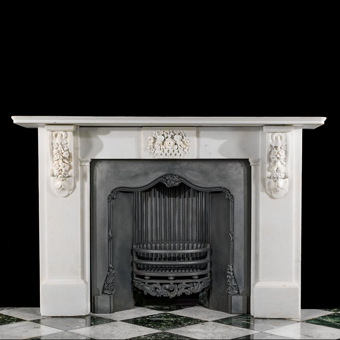 A Victorian Statuary Corbel Chimneypiece