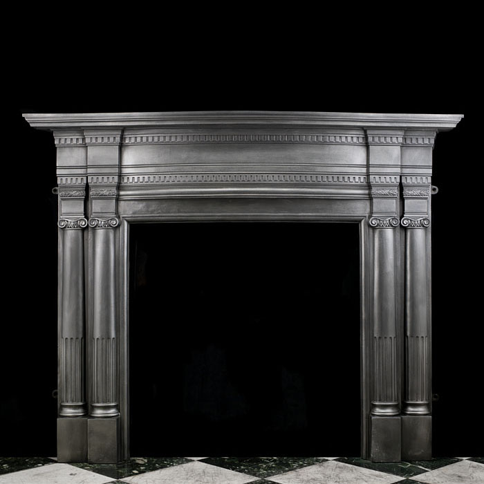A Large Victorian Cast Iron Fire Surround