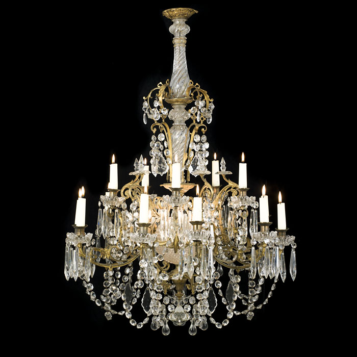 A Large 20th Century Cut Glass Chandelier