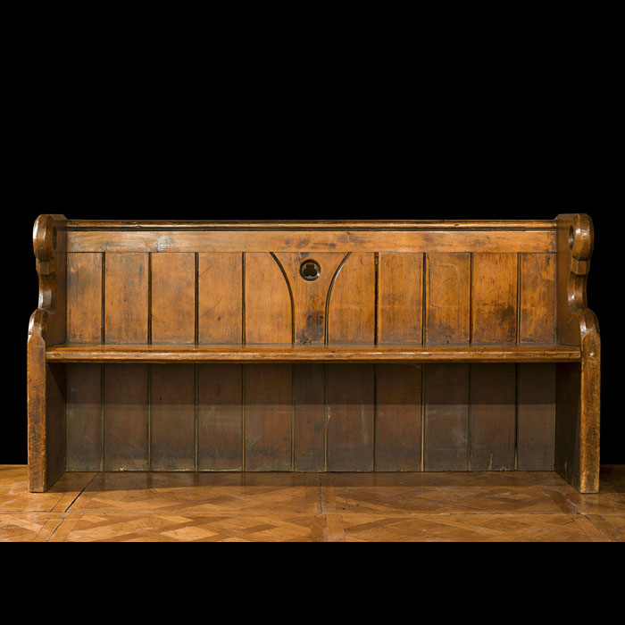 A Three Seat Arts & Crafts Oak Pew Bench