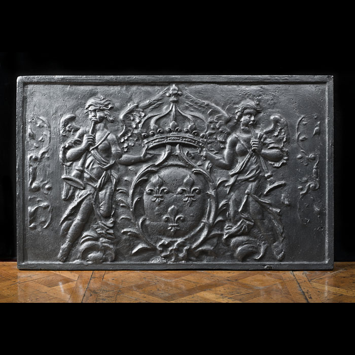 A Large & Heavy Cast Iron Armorial Fireback