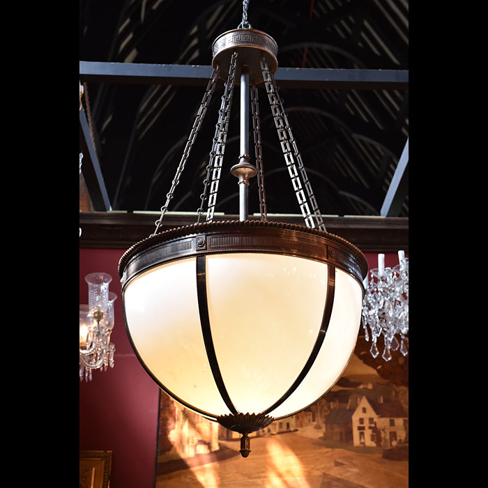 A large Regency style hotel ceiling light