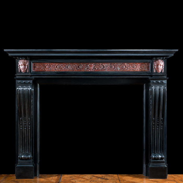 A Louis XVI Belgian Marble fireplace