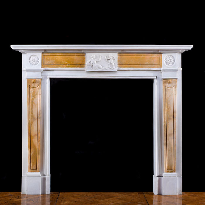 A Neoclassical style Statuary chimneypiece