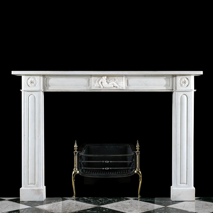 A Statuary Marble Regency Fireplace