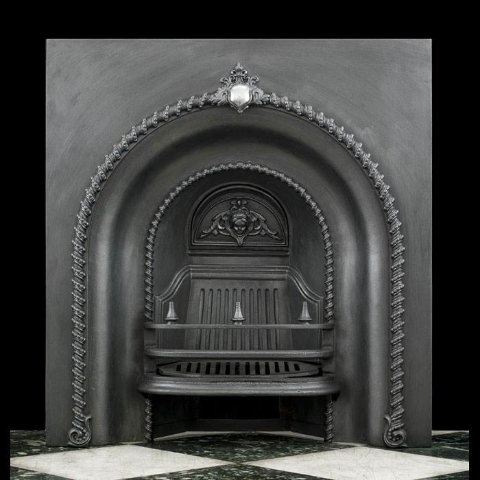 A Cast Iron Victorian Fireplace Insert