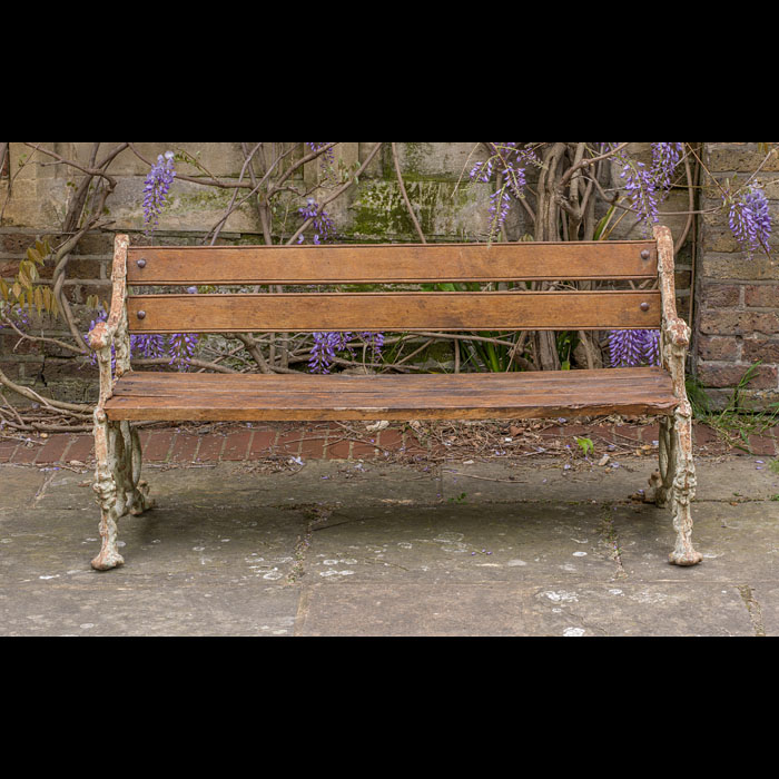 A Coalbrookdale style suite of garden seats