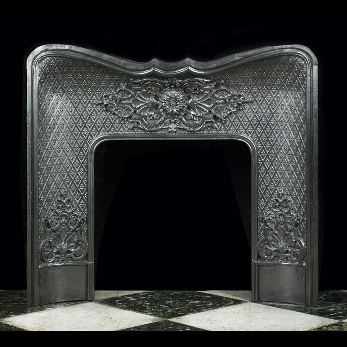 A French cast iron fireplace insert