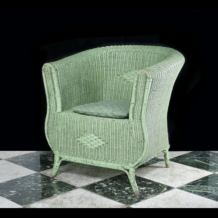 A comfortable Art Deco wicker armchair