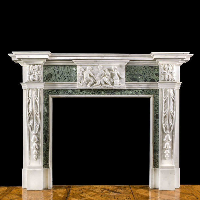 A large Statuary Georgian chimneypiece