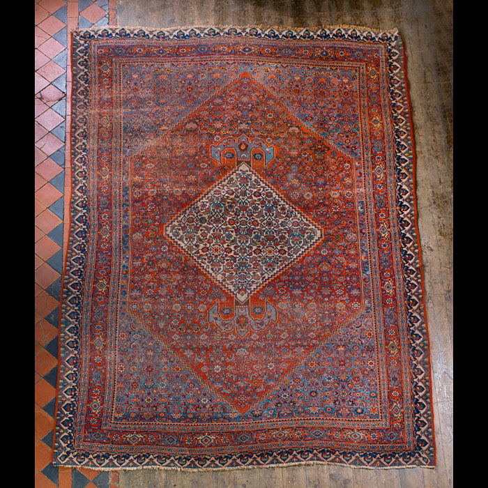 A large durable Persian Bidjar carpet