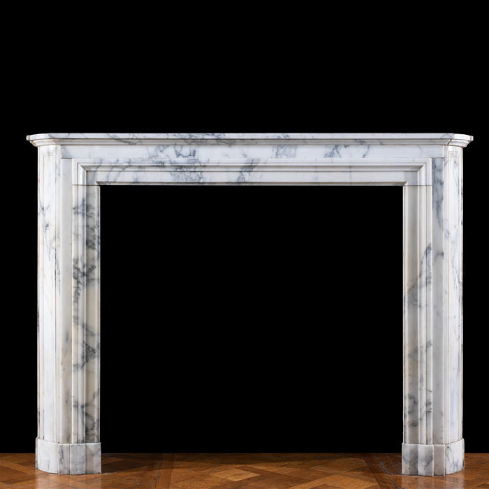 An Arabascato Marble Louis XVI chimneypiece