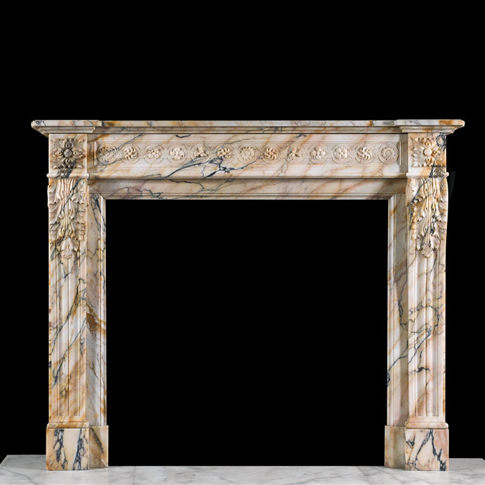 A beautiful Pavonazzo Marble chimneypiece