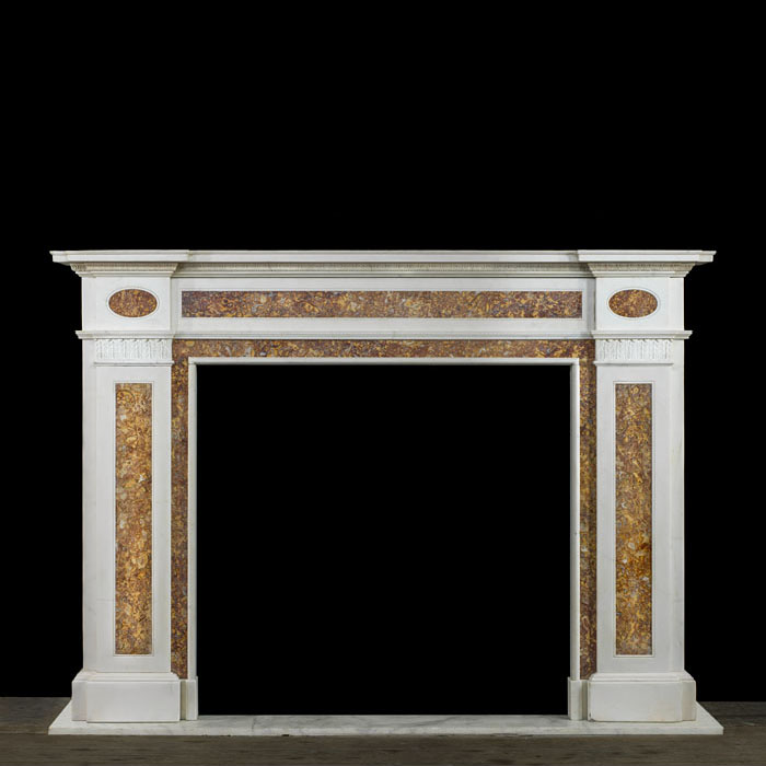 A Regency Statuary and Brocatelle fireplace