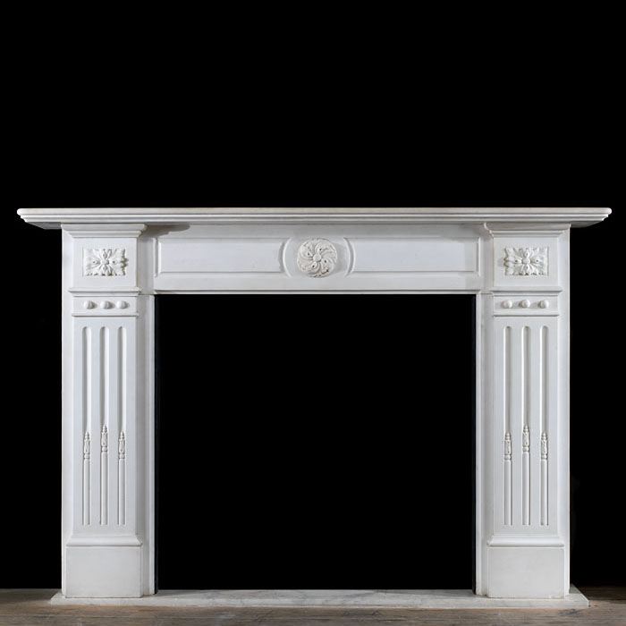 Antique Marble Belgian Fireplace