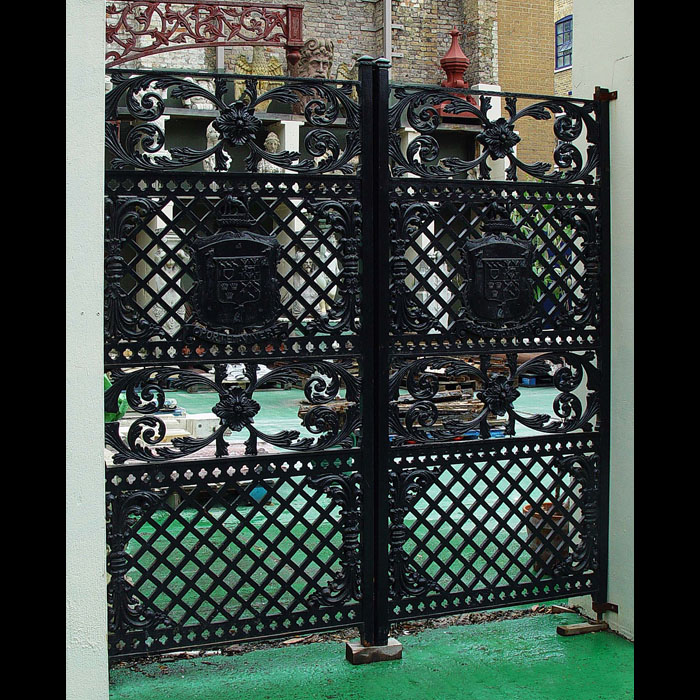 A Victorian Pair of Cast Iron Gates
