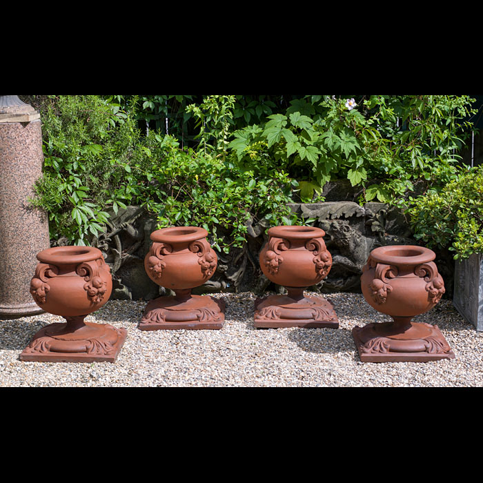 A Set Of Victorian Terracotta Urns