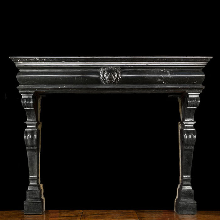 Baroque Fossil Stone Fireplace Mantel