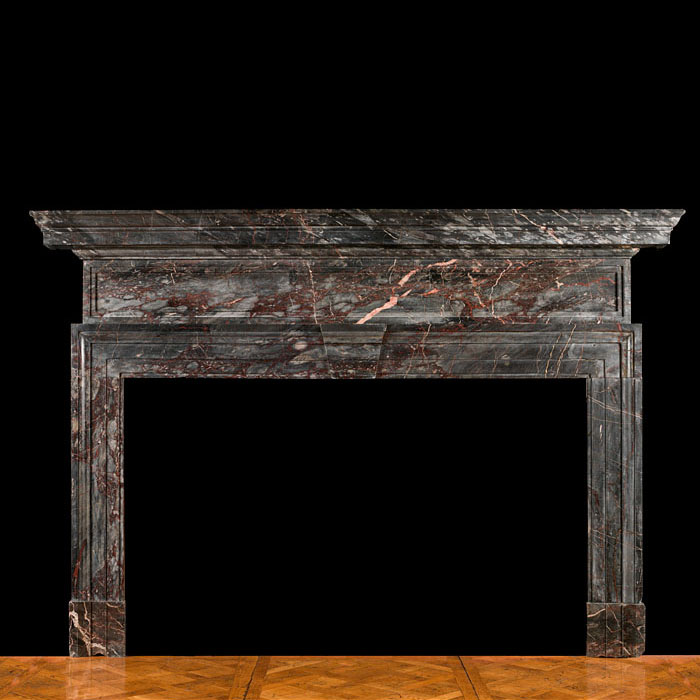 A large Ashburton Marble chimneypiece