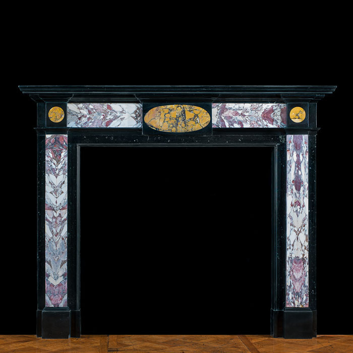 A Specimen Marble English Fireplace Mantel
