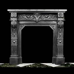 A Cast Iron French Antique Fire Surround