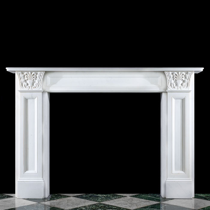A Regency Greek Revival Style Marble Fireplace