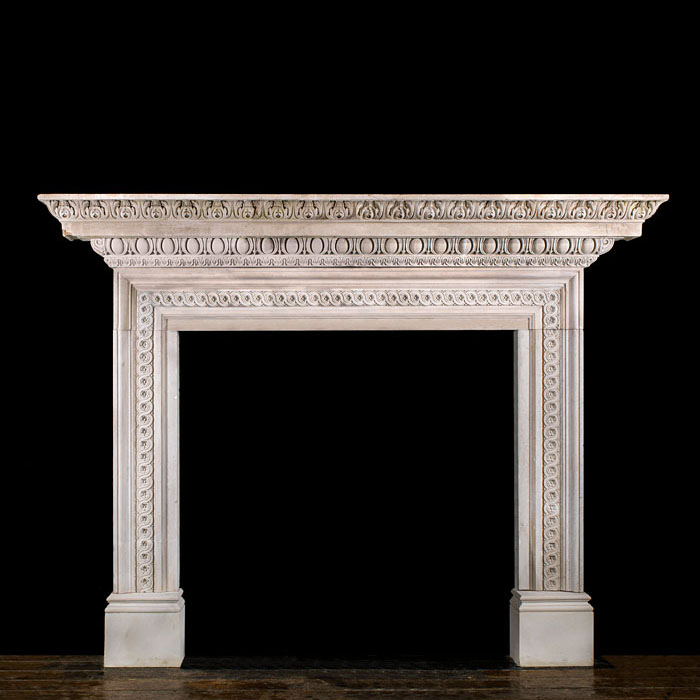 A Palladian style stone chimneypiece
