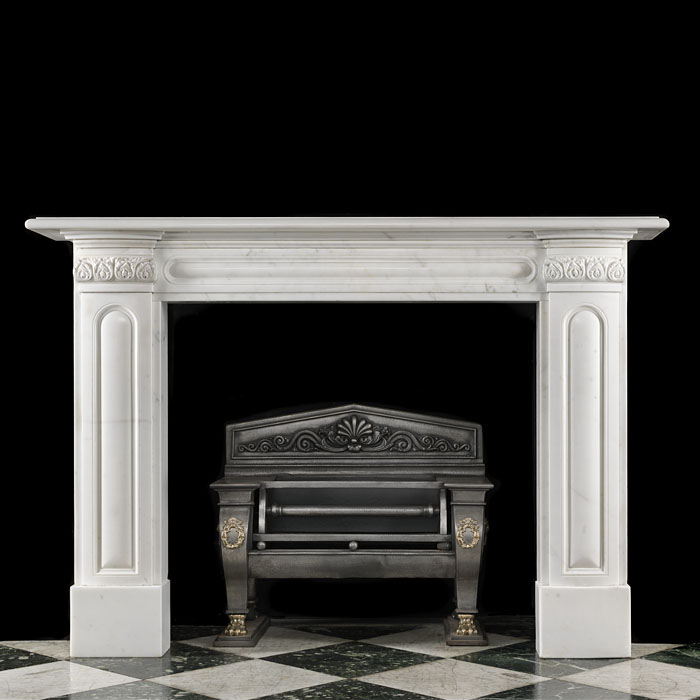 Regency White Statuary Marble Chimneypiece
